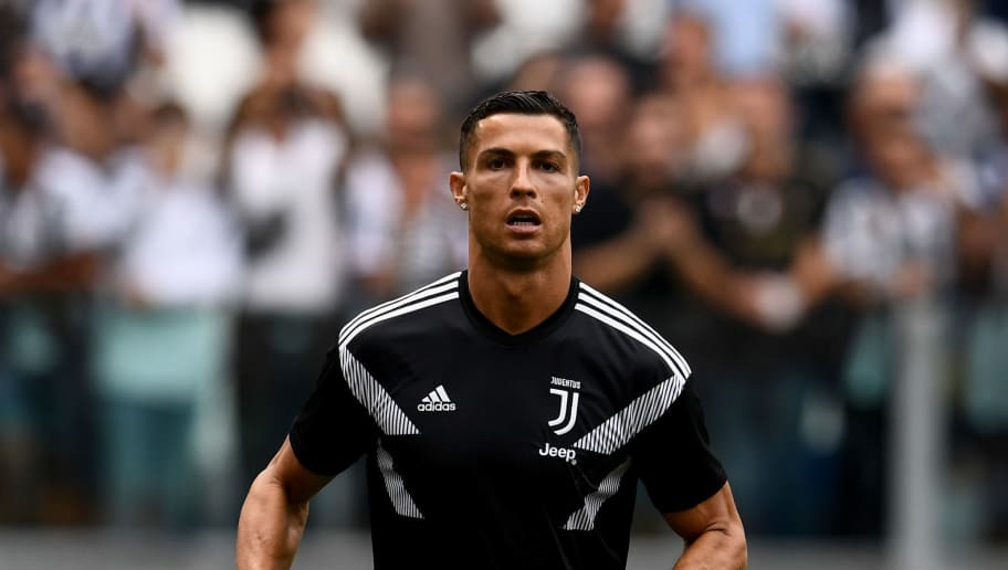 TURIN, ITALY - SEPTEMBER 16:  Cristiano Ronaldo of Juventus looks on prior to the serie A match between Juventus and US Sassuolo at Allianz Stadium on September 16, 2018 in Turin, Italy.  (Photo by Claudio Villa./Getty Images)