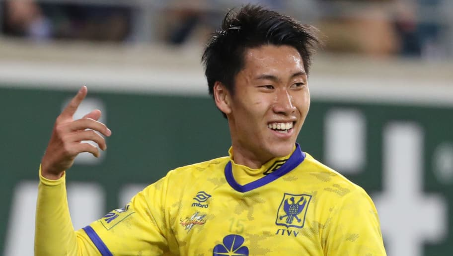 GENT, BELGIUM - SEPTEMBER 16: Daichi Kamada celebrates after scoring a goal during the Jupiler Pro League match between KAA Gent and Sint-Truidense V.V. at Ghelamco Arena on September 16, 2018 in Gent, Belgium. (Photo by Vincent Van Doornick/Isosport/MB Media/Getty Images)
