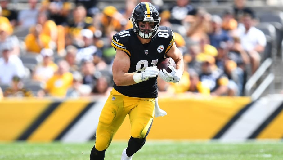PITTSBURGH, PA - SEPTEMBER 16:  Jesse James #81 of the Pittsburgh Steelers in action during the game against the  Kansas City Chiefs at Heinz Field on September 16, 2018 in Pittsburgh, Pennsylvania. (Photo by Joe Sargent/Getty Images)