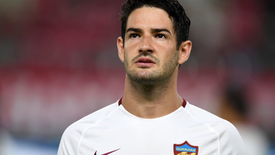 KASHIMA, JAPAN - AUGUST 28:  Alexandre Pato of Tianjin Quanjian looks on prior to the AFC Champions League Round of 16 first leg match between Kashima Antlers and Tianjin Quanjian at Kashima Soccer Stadium on August 28, 2018 in Kashima, Ibaraki, Japan.  (Photo by Etsuo Hara/Getty Images)