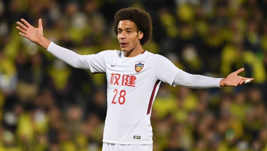 KASHIWA, JAPAN - FEBRUARY 20:  Axel Witsel of Tianjin Quanjian reacts during the AFC Champions League match between Kashiwa Reysol and Tianjin Quanjian at Sankyo Frontier Kashiwa Stadium on February 20, 2018 in Kashiwa, Chiba, Japan.  (Photo by Masashi Hara/Getty Images)