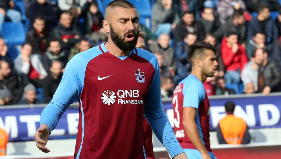 ISTANBUL, TURKEY - DECEMBER 9: Burak Yilmaz of Trabzonspor  during the Turkish Super lig  match between Kasimpasaspor v Trabzonspor at the Recep Tayyip Erdoganstadion on December 9, 2017 in Istanbul Turkey (Photo by Soccrates/Getty Images)