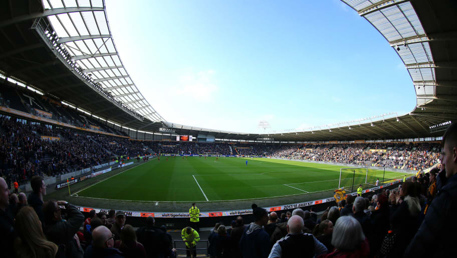 HULL, ENGLAND - APRIL 14: A general view of the KCOM Stadium during the Sky Bet Championship match between Hull City and Sheffield Wednesday at KCOM Stadium on April 14, 2018 in Hull, England. (Photo by Ashley Allen/Getty Images)