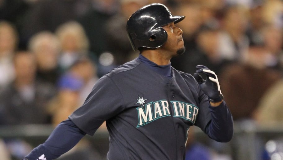 SEATTLE - APRIL 30:  Ken Griffey Jr. #24 of the Seattle Mariners bats against the Texas Rangers at Safeco Field on April 30, 2010 in Seattle, Washington. (Photo by Otto Greule Jr/Getty Images)