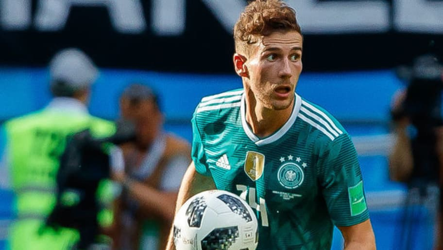 KAZAN, RUSSIA - JUNE 27: Leon Goretzka of Germany controls the ball during the 2018 FIFA World Cup Russia group F match between Korea Republic and Germany at Kazan Arena on June 27, 2018 in Kazan, Russia. (Photo by TF-Images/Getty Images)