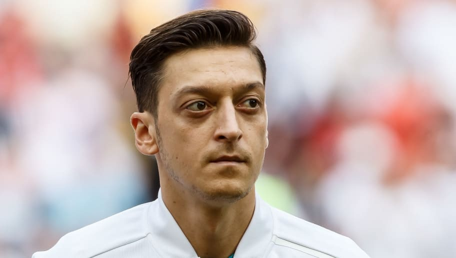 KAZAN, RUSSIA - JUNE 27: Mesut Oezil of Germany looks on prior to the 2018 FIFA World Cup Russia group F match between Korea Republic and Germany at Kazan Arena on June 27, 2018 in Kazan, Russia. (Photo by TF-Images/Getty Images)