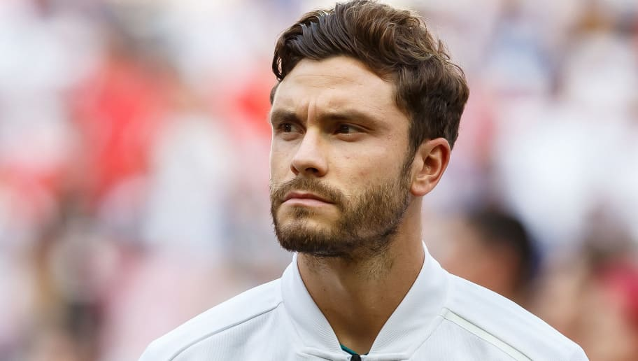 KAZAN, RUSSIA - JUNE 27: Jonas Hector of Germany looks on prior to the 2018 FIFA World Cup Russia group F match between Korea Republic and Germany at Kazan Arena on June 27, 2018 in Kazan, Russia. (Photo by TF-Images/Getty Images)
