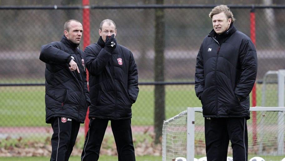 (L-R) FC Twente's assistant coaches Alfr