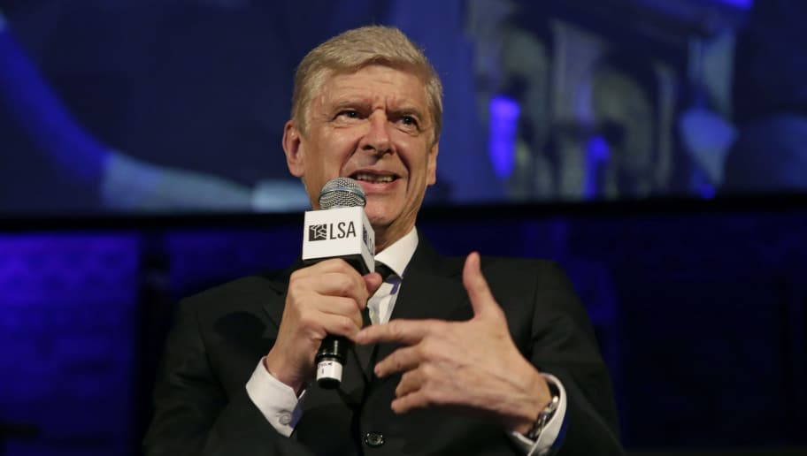 LONDON, ENGLAND - OCTOBER 09:  Former Arsenal Manager, Arsene Wenger, speaks after receiving the Lifetime Achievement Award during the Leaders Sport Awards at the Natural History Museum on October 9, 2018 in London, England.  (Photo by Henry Browne/Getty Images for Leaders)
