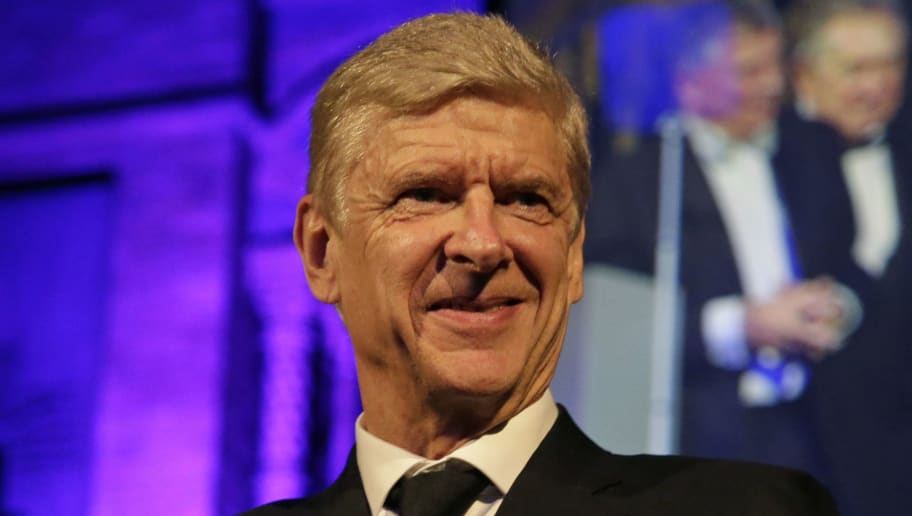 LONDON, ENGLAND - OCTOBER 09:  Former Arsenal Manager, Arsene Wenger, looks on after receiving the Lifetime Achievement Award during the Leaders Sport Awards at the Natural History Museum on October 9, 2018 in London, England.  (Photo by Henry Browne/Getty Images for Leaders)