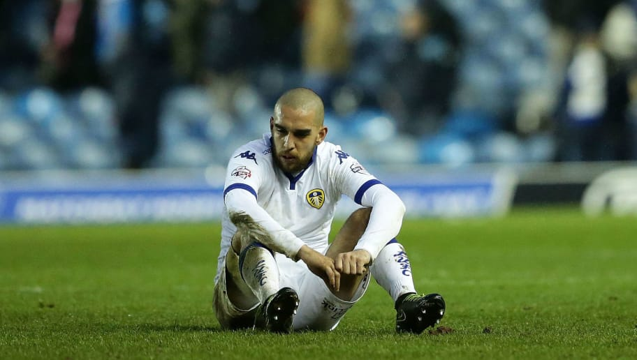 LEEDS, ENGLAND - FEBRUARY 06:  Giuseppe Bellusci of Leeds United FC sits looking dejected after Leeds United were defeated 1-0 during the Sky Bet Championship match between Leeds United and Nottingham Forest on February 6, 2016 in Leeds, United Kingdom.  (Photo by Daniel L Smith/Getty Images)
