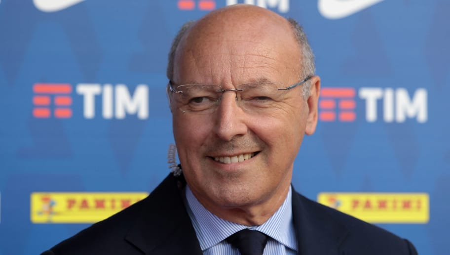 MILAN, ITALY - JULY 26:  Juventus CEO Giuseppe Marotta attends the Serie A 2018/19 Fixture unveiling on July 26, 2018 in Milan, Italy.  (Photo by Emilio Andreoli/Getty Images)