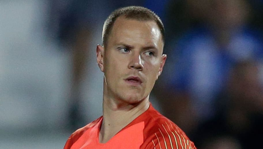 MADRID, SPAIN - SEPTEMBER 26: Marc Andre ter Stegen of FC Barcelona during the La Liga Santander  match between Leganes v FC Barcelona at the Estadio Municipal de Butarque on September 26, 2018 in Madrid Spain (Photo by Jeroen Meuwsen/Soccrates/Getty Images)