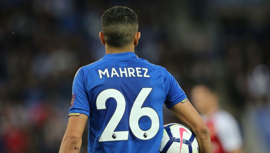 LEICESTER, ENGLAND - MAY 09: Riyad Mahrez of Leicester City during the Premier League match between Leicester City and Arsenal at The King Power Stadium on May 9, 2018 in Leicester, England. (Photo by James Williamson - AMA/Getty Images)