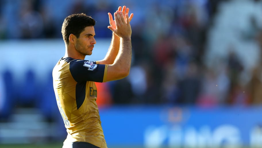 LEICESTER, ENGLAND - SEPTEMBER 26:  Mikel Arteta of Arsenal during the Barclays Premier League match between Leicester City and Arsenal at The King Power Stadium on September 26, 2015 in Leicester, United Kingdom.  (Photo by Catherine Ivill - AMA/Getty Images)