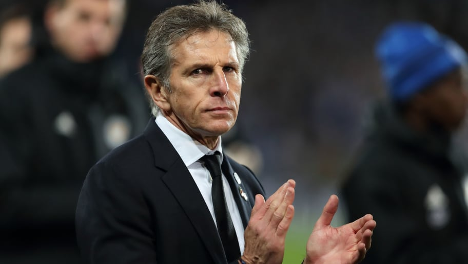 LEICESTER, ENGLAND - NOVEMBER 10: Leicester City Manager \ Head Coach Claude Puel during the Premier League match between Leicester City and Burnley FC at The King Power Stadium on November 10, 2018 in Leicester, United Kingdom. (Photo by James Williamson - AMA/Getty Images)