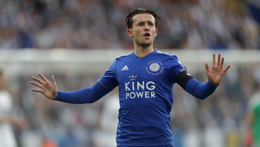 LEICESTER, ENGLAND - NOVEMBER 10: Ben Chilwell of Leicester City reacts during the Premier League match between Leicester City and Burnley FC at The King Power Stadium on November 10, 2018 in Leicester, United Kingdom. (Photo by Malcolm Couzens/Getty Images)