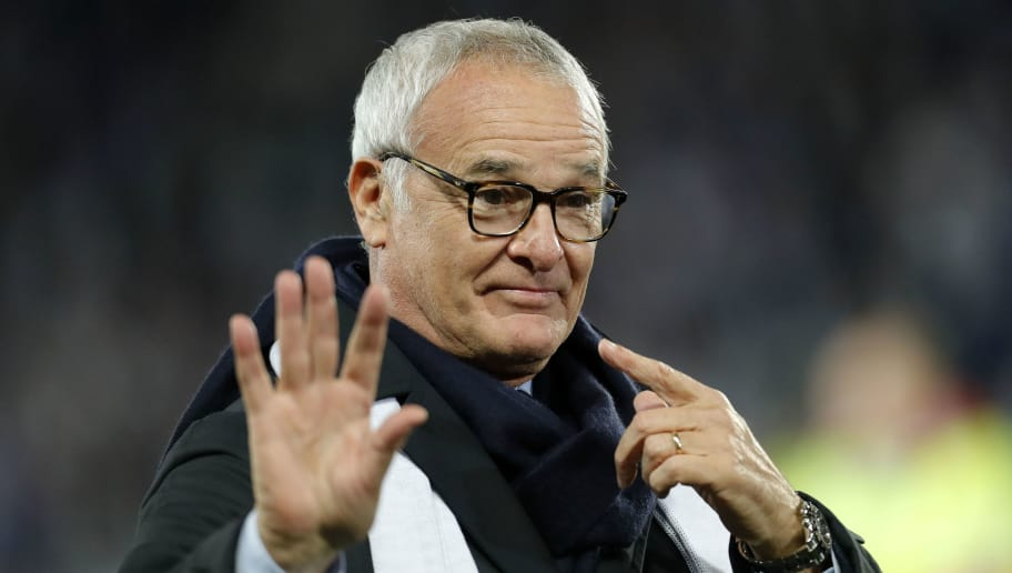 LEICESTER, ENGLAND - NOVEMBER 10: Former Leicester City manager Claudio Ranieri reacts following the Premier League match between Leicester City and Burnley FC at The King Power Stadium on November 10, 2018 in Leicester, United Kingdom. (Photo by Malcolm Couzens/Getty Images)