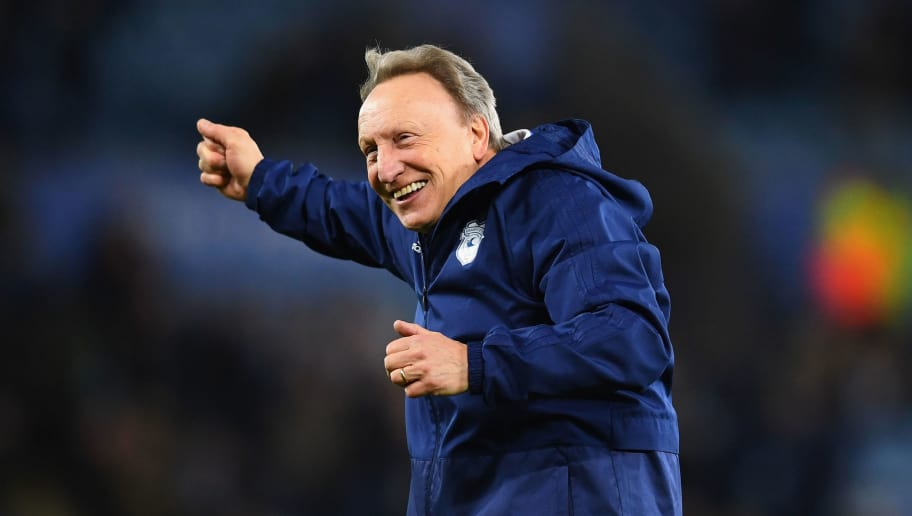 LEICESTER, ENGLAND - DECEMBER 29:  Neil Warnock, manager of Cardiff City celebrates during the Premier League match between Leicester City and Cardiff City at The King Power Stadium on December 29, 2018 in Leicester, United Kingdom.  (Photo by Clive Mason/Getty Images)