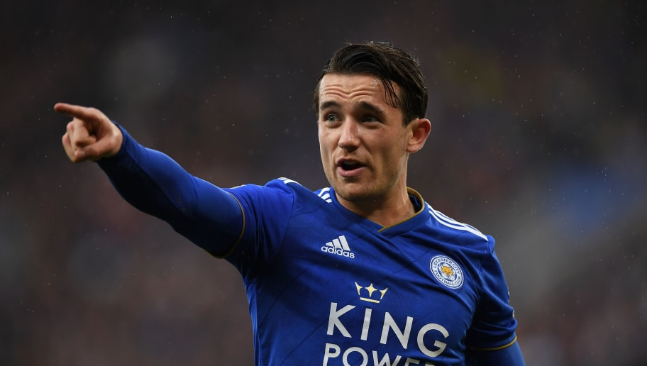 LEICESTER, ENGLAND - OCTOBER 06:  Ben Chilwell of Leicester City gestures during the Premier League match between Leicester City and Everton FC at The King Power Stadium on October 06, 2018 in Leicester, United Kingdom. (Photo by Shaun Botterill/Getty Images)