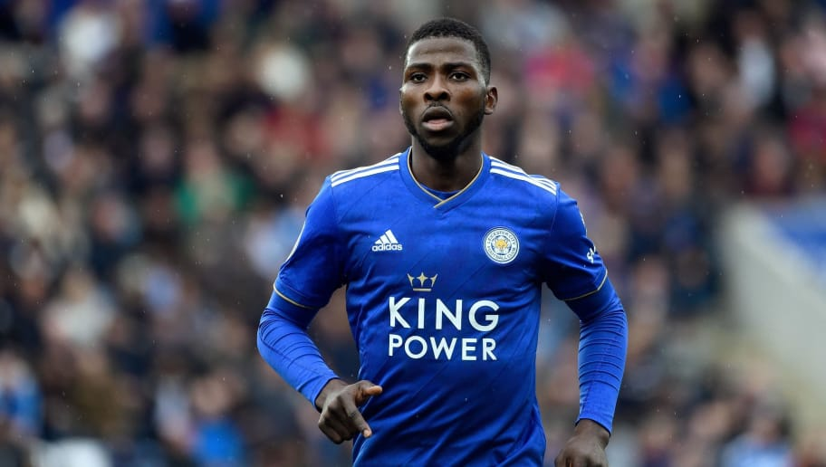 LEICESTER, ENGLAND - SEPTEMBER 22: Kelechi Iheanacho of Leicester City during the Premier League match between Leicester City and Huddersfield Town at The King Power Stadium on September 22, 2018 in Leicester, United Kingdom. (Photo by Malcolm Couzens/Getty Images)