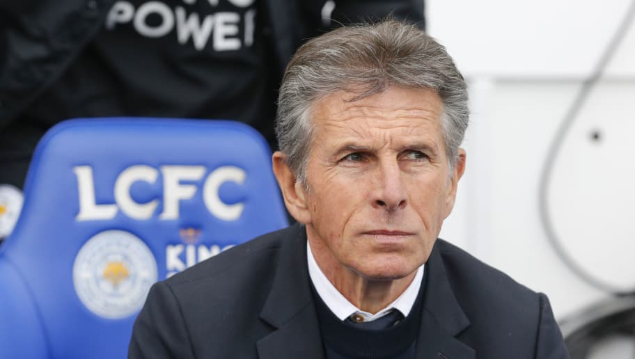 LEICESTER, ENGLAND - SEPTEMBER 22: Claude Puel the manager of Leicester City during the Premier League match between Leicester City and Huddersfield Town at The King Power Stadium on September 22, 2018 in Leicester, United Kingdom. (Photo by John Early/Getty Images)