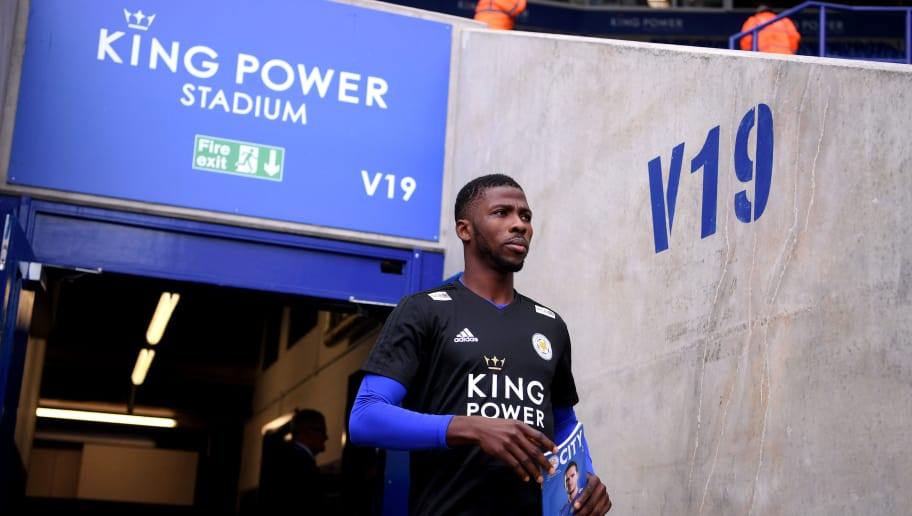 LEICESTER, ENGLAND - SEPTEMBER 22: Kelechi Iheanacho of Leicester City walks out to inspect the pitch prior to the Premier League match between Leicester City and Huddersfield Town at The King Power Stadium on September 22, 2018 in Leicester, United Kingdom.  (Photo by Laurence Griffiths/Getty Images)