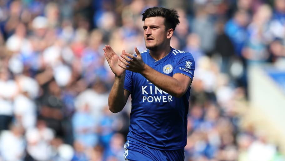 LEICESTER, ENGLAND - SEPTEMBER 01: Harry Maguire of Leicester City during the Premier League match between Leicester City and Liverpool FC at The King Power Stadium on September 1, 2018 in Leicester, United Kingdom. (Photo by James Williamson - AMA/Getty Images)