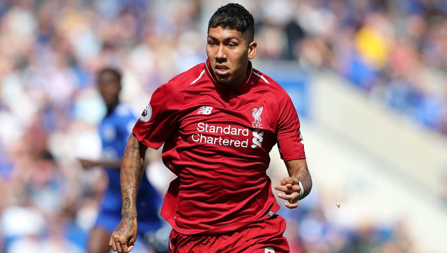 LEICESTER, ENGLAND - SEPTEMBER 01: Roberto Firmino of Liverpool during the Premier League match between Leicester City and Liverpool FC at The King Power Stadium on September 1, 2018 in Leicester, United Kingdom. (Photo by James Williamson - AMA/Getty Images)