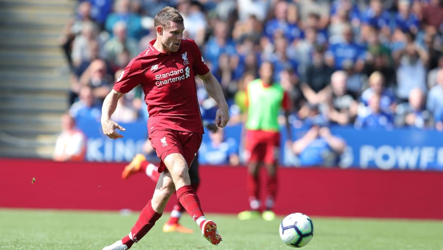 LEICESTER, ENGLAND - SEPTEMBER 01: James Milner of Liverpool during the Premier League match between Leicester City and Liverpool FC at The King Power Stadium on September 1, 2018 in Leicester, United Kingdom. (Photo by James Williamson - AMA/Getty Images)