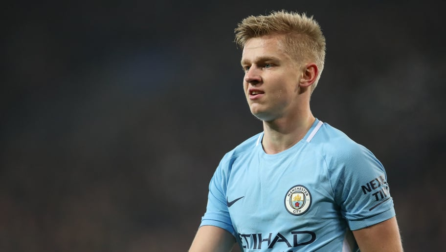 LEICESTER, ENGLAND - DECEMBER 19: Oleksandr Zinchenko of Manchester City during the Carabao Cup Quarter-Final match between here Leicester City v Manchester City at The King Power Stadium on December 19, 2017 in Leicester, England. (Photo by Robbie Jay Barratt - AMA/Getty Images)