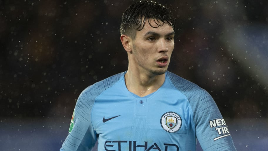 LEICESTER, ENGLAND - DECEMBER 18: Brahim Díaz of Manchester City during the Carabao Cup Quarter Final match between Leicester City and Manchester City at The King Power Stadium on December 18, 2018 in Leicester, United Kingdom. (Photo by Visionhaus/Getty Images)