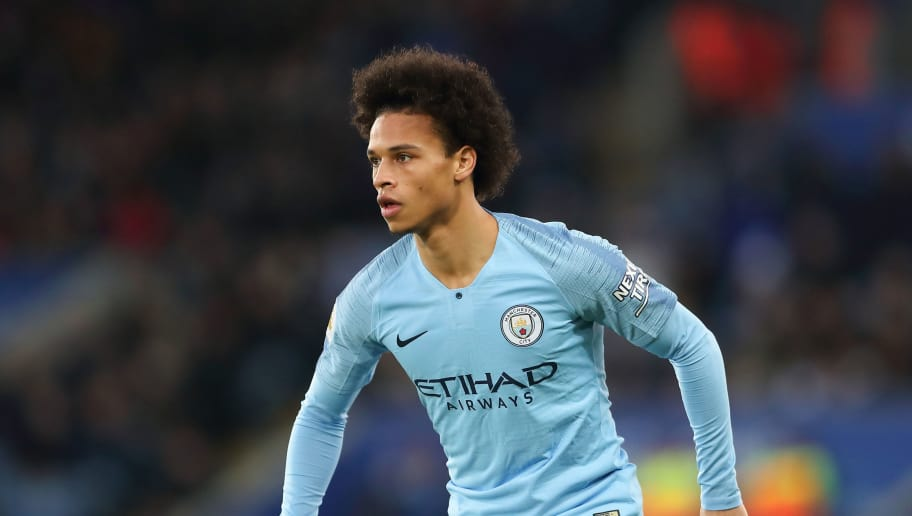 LEICESTER, ENGLAND - DECEMBER 26: Leroy Sane of Manchester City during the Premier League match between Leicester City and Manchester City at The King Power Stadium on December 26, 2018 in Leicester, United Kingdom. (Photo by James Williamson - AMA/Getty Images)