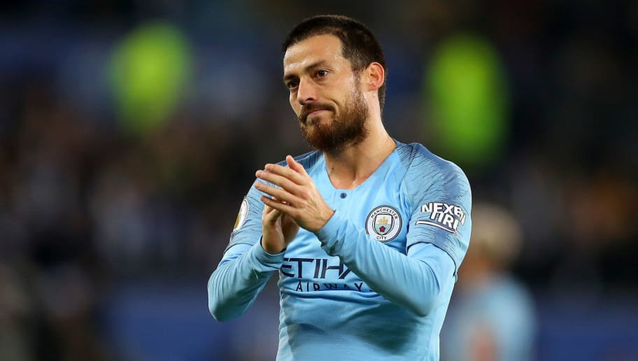 LEICESTER, ENGLAND - DECEMBER 26: David Silva of Manchester City acknowledges the fans after the Premier League match between Leicester City and Manchester City at The King Power Stadium on December 26, 2018 in Leicester, United Kingdom.  (Photo by Catherine Ivill/Getty Images)