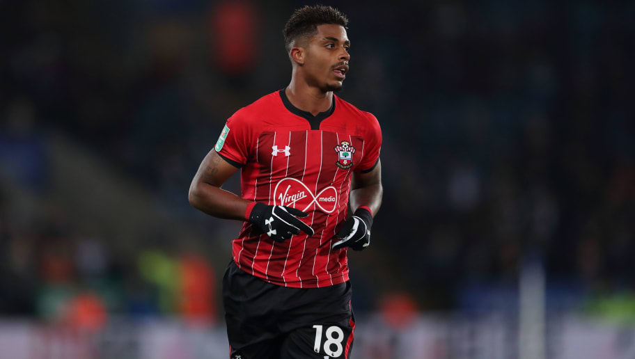 LEICESTER, ENGLAND - NOVEMBER 27: Mario Lemina of Southampton during the Carabao Cup Fourth Round match between Leicester City and Southampton at The King Power Stadium on November 27, 2018 in Leicester, England. (Photo by James Williamson - AMA/Getty Images)
