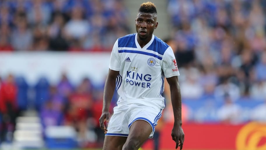 LEICESTER, ENGLAND - AUGUST 01: Kelechi Iheanacho of Leicester City during the Pre-Season Friendly between Leicester City and Valencia at The King Power Stadium on August 1, 2018 in Leicester, England. (Photo by James Williamson - AMA/Getty Images)