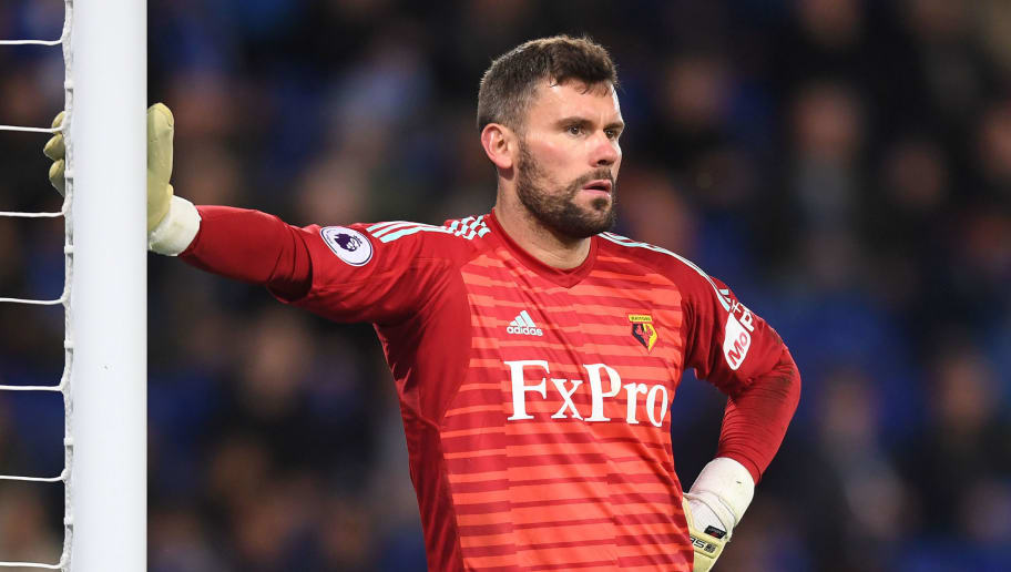 LEICESTER, ENGLAND - DECEMBER 01:  Ben Foster of Watford looks on during the Premier League match between Leicester City and Watford FC at The King Power Stadium on December 1, 2018 in Leicester, United Kingdom.  (Photo by Michael Regan/Getty Images)