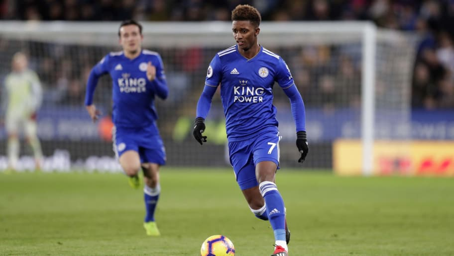 LEICESTER, ENGLAND - DECEMBER 01: Demarai Gray of Leicester City during the Premier League match between Leicester City and Watford FC at The King Power Stadium on December 01, 2018 in Leicester, United Kingdom. (Photo by Malcolm Couzens/Getty Images)