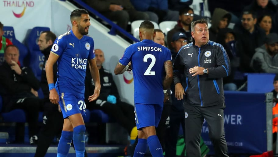 LEICESTER, ENGLAND - OCTOBER 16:  Craig Shakespeare, manager of Leicester City looks on as Danny Simpson of Leiceter City is substituted during the Premier League match between Leicester City and West Bromwich Albion at The King Power Stadium on October 16, 2017 in Leicester, England.  (Photo by Richard Heathcote/Getty Images)