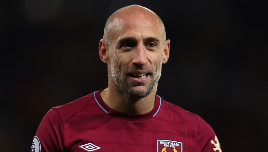 LEICESTER, ENGLAND - OCTOBER 27: Pablo Zabaleta of West Ham United during the Premier League match between Leicester City and West Ham United at The King Power Stadium on October 27, 2018 in Leicester, United Kingdom. (Photo by James Williamson - AMA/Getty Images)