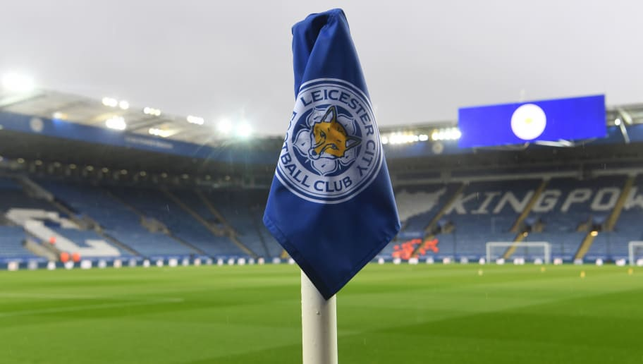 LEICESTER, ENGLAND - OCTOBER 27:  General view inside the stadium where a detailed view of a corner flag can be seen prior to the Premier League match between Leicester City and West Ham United at The King Power Stadium on October 27, 2018 in Leicester, United Kingdom.  (Photo by Michael Regan/Getty Images)