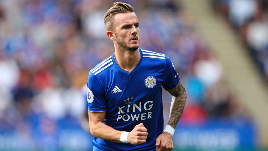LEICESTER, ENGLAND - AUGUST 18: James Maddison of Leicester City during the Premier League match between Leicester City and Wolverhampton Wanderers at The King Power Stadium on August 18, 2018 in Leicester, United Kingdom. (Photo by Sam Bagnall - AMA/Getty Images)