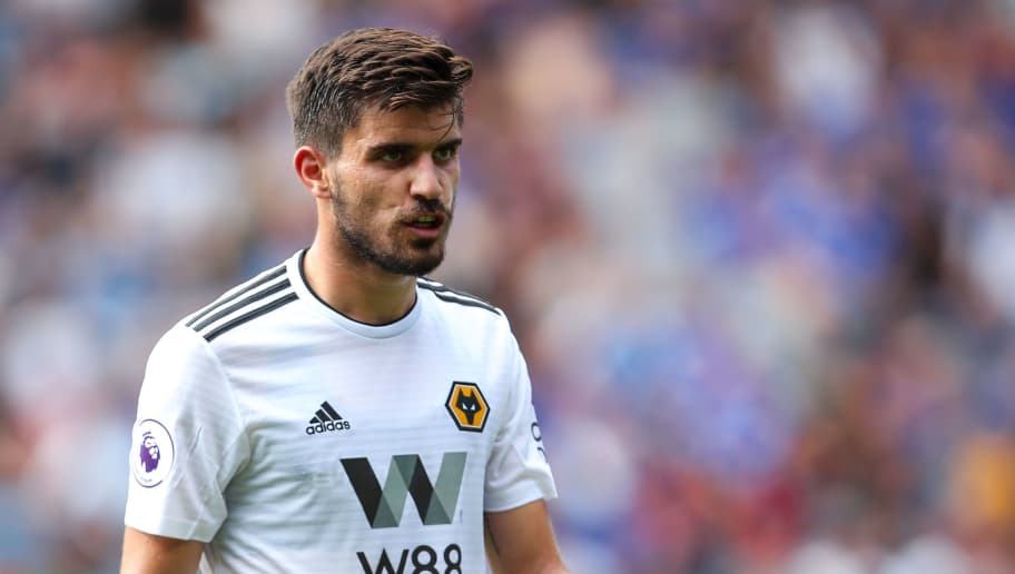 LEICESTER, ENGLAND - AUGUST 18: Ruben Neves of Wolverhampton Wanderers during the Premier League match between Leicester City and Wolverhampton Wanderers at The King Power Stadium on August 18, 2018 in Leicester, United Kingdom. (Photo by Robbie Jay Barratt - AMAGetty Images)