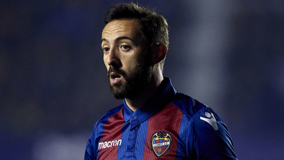 VALENCIA, SPAIN - DECEMBER 03: Jose Luis Morales of Levante looks on during the La Liga match between Levante UD and Athletic Club at Ciutat de Valencia on December 03, 2018 in Valencia, Spain. (Photo by Quality Sport Images/Getty Images)