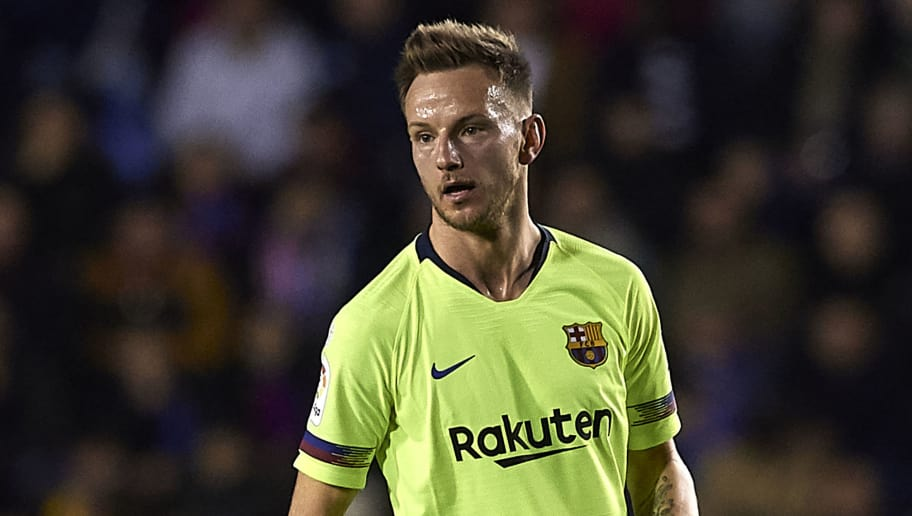 VALENCIA, SPAIN - DECEMBER 16: Ivan Rakitic of Barcelona in action during the La Liga match between Levante UD and FC Barcelona at Ciutat de Valencia on December 16, 2018 in Valencia, Spain. (Photo by Quality Sport Images/Getty Images)