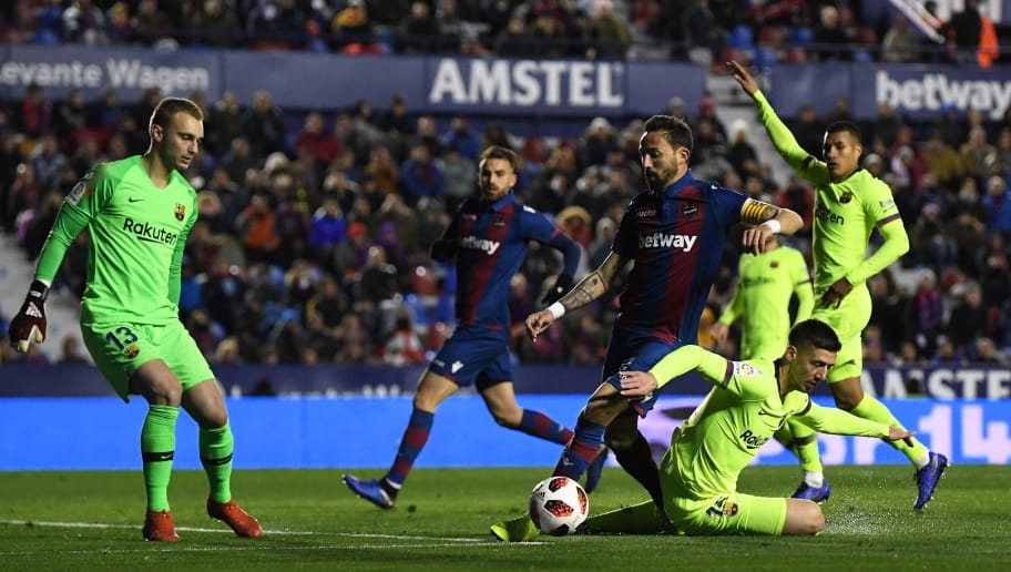 Levante 2 1 Barcelona Granotas Kejutkan Juara Bertahan