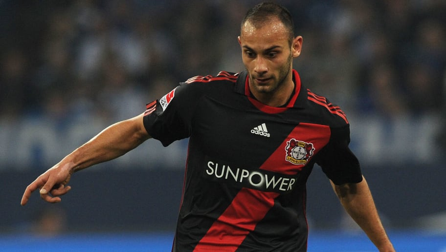 Leverkusen's defender Oemer Toprak plays