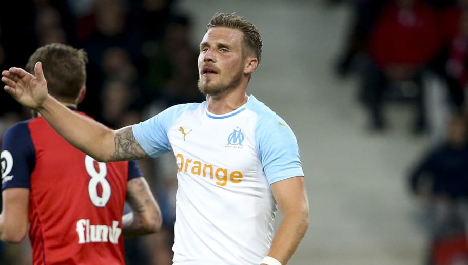 LILLE, FRANCE - SEPTEMBER 30: Gregory Sertic of Marseille during the french Ligue 1 match between Lille OSC (LOSC) and Olympique de Marseille (OM) at Stade Pierre Mauroy on September 30, 2018 in Lille, France. (Photo by Jean Catuffe/Getty Images)