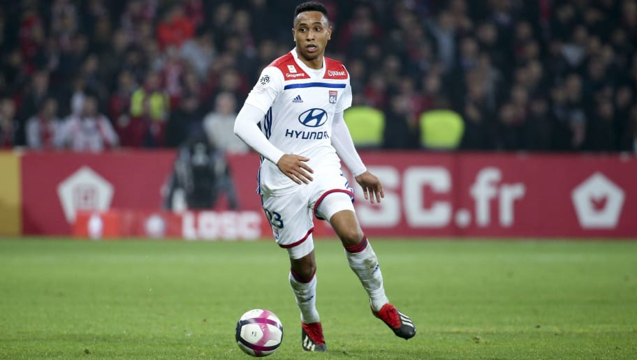 LILLE, FRANCE - DECEMBER 1: Kenny Tete of Lyon during the french Ligue 1 match between Lille OSC (LOSC) and Olympique Lyonnais (OL) at Stade Pierre Mauroy on December 1, 2018 in Lille, France. (Photo by Jean Catuffe/Getty Images)