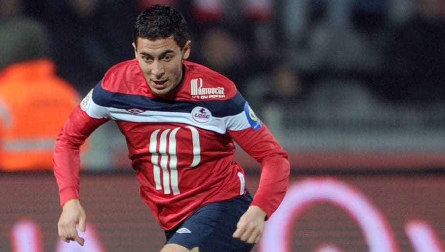 Lille's French midfielder Eden Hazard ru